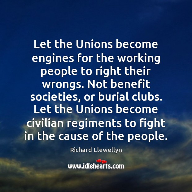 Let the Unions become engines for the working people to right their Image