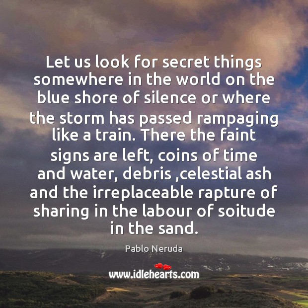 Let us look for secret things somewhere in the world on the Image