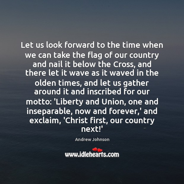 Image, Let us look forward to the time when we can take the