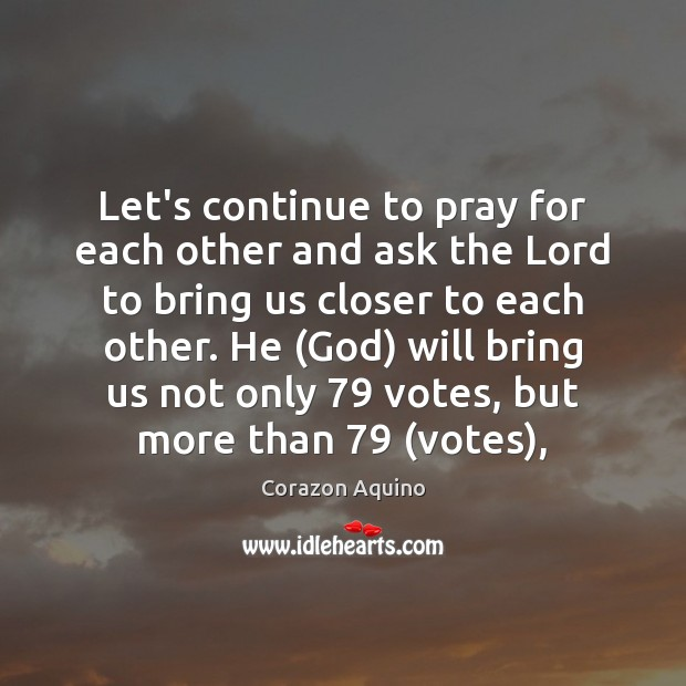 Let's continue to pray for each other and ask the Lord to Image