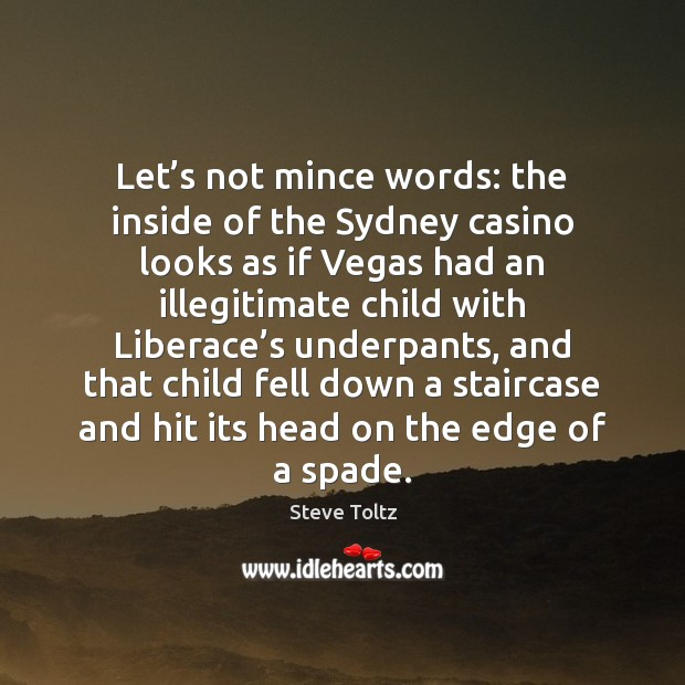 Let's not mince words: the inside of the Sydney casino looks Image