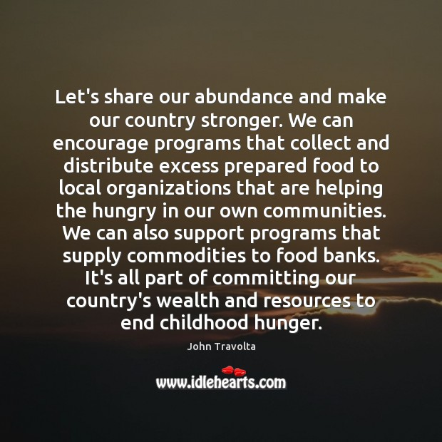 Image, Let's share our abundance and make our country stronger. We can encourage