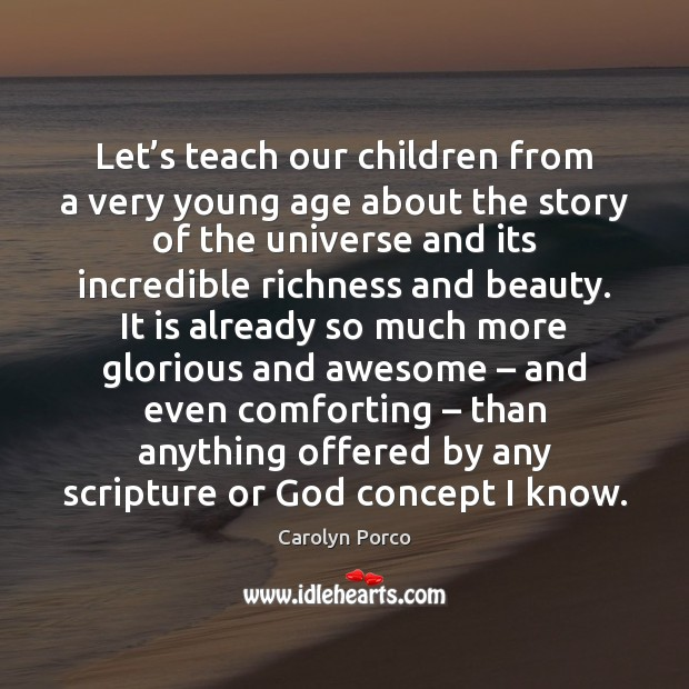 Let's teach our children from a very young age about the Image