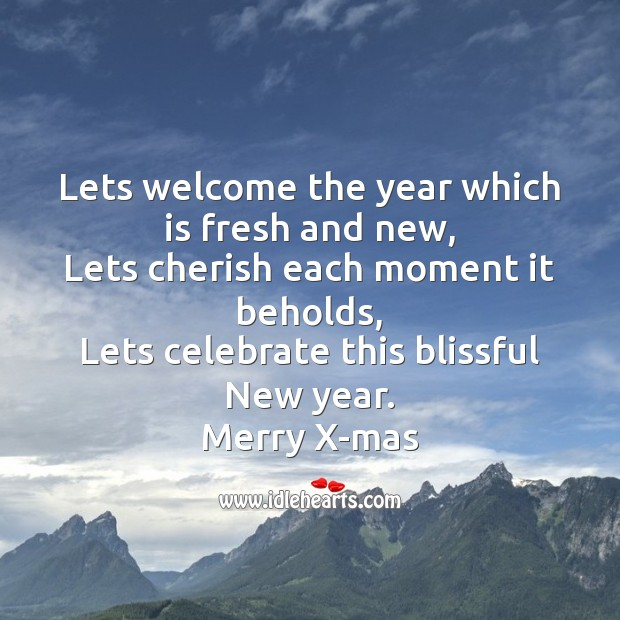 Image, Lets welcome the year which is fresh and new