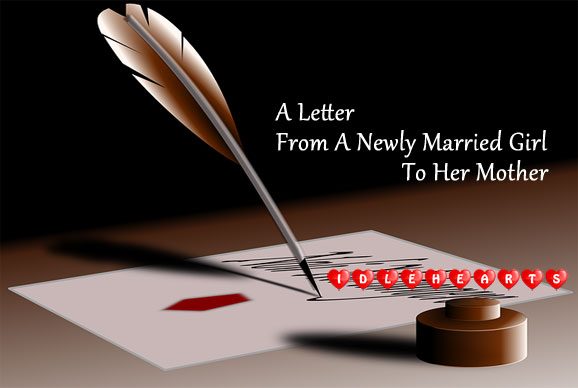 Image, A letter from a newly married girl to her mother