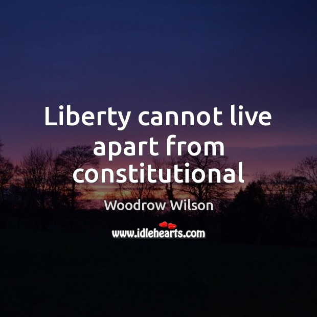Image, Liberty cannot live apart from constitutional