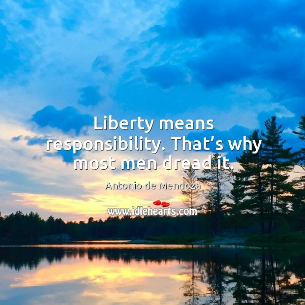 Image, Liberty means responsibility. That's why most men dread it.