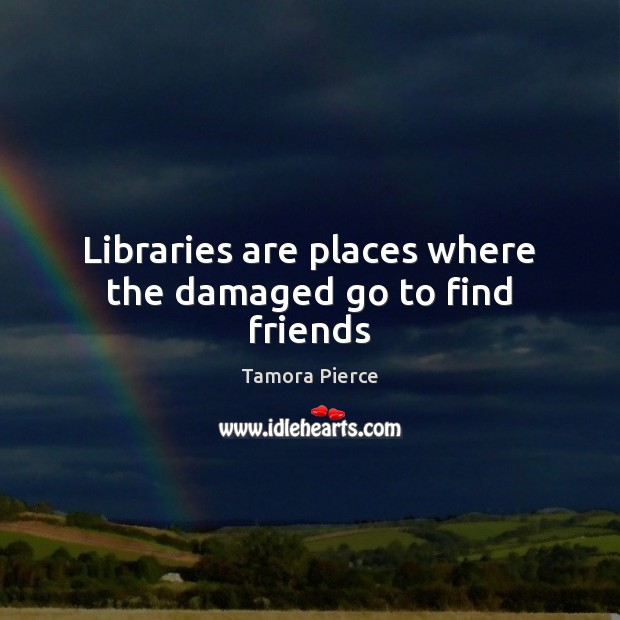 Libraries are places where the damaged go to find friends Image