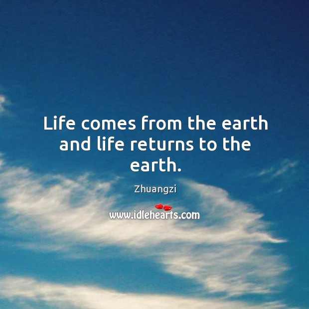 Image, Life comes from the earth and life returns to the earth.