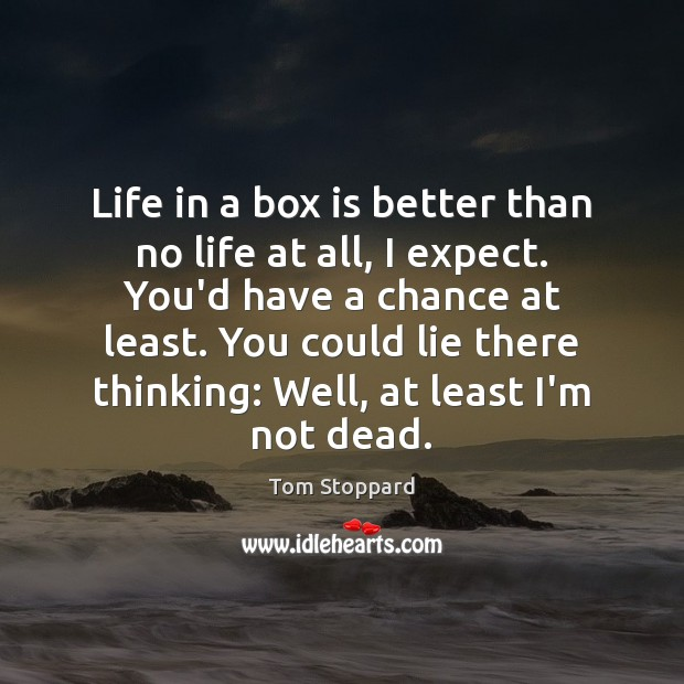 Image, Life in a box is better than no life at all, I