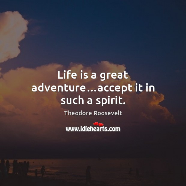 Image, Life is a great adventure…accept it in such a spirit.