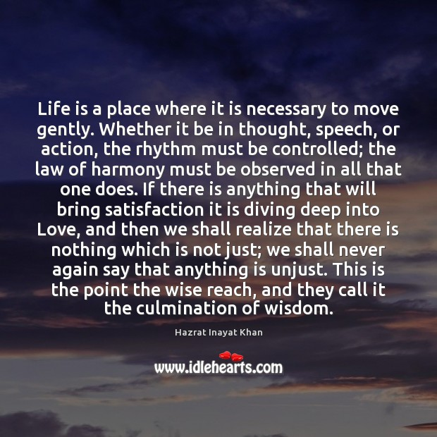 Life is a place where it is necessary to move gently. Whether Image