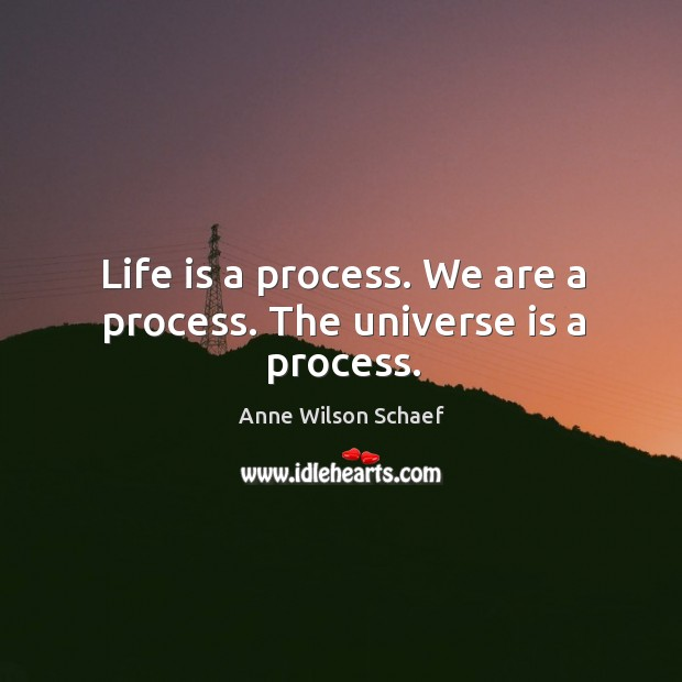Image, Life is a process. We are a process. The universe is a process.
