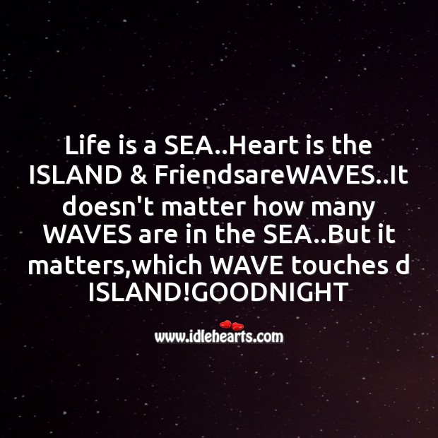 Life is a sea..heart is Image