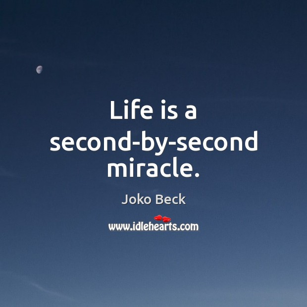 Life is a second-by-second miracle. Image