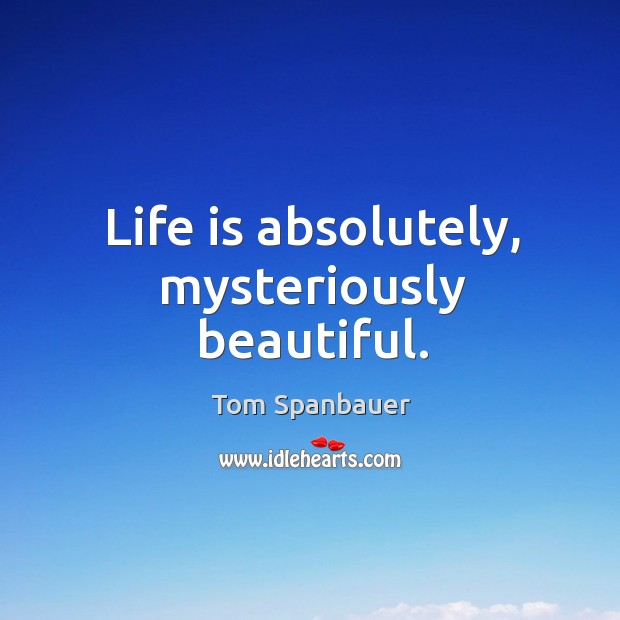 Life is absolutely, mysteriously beautiful. Image