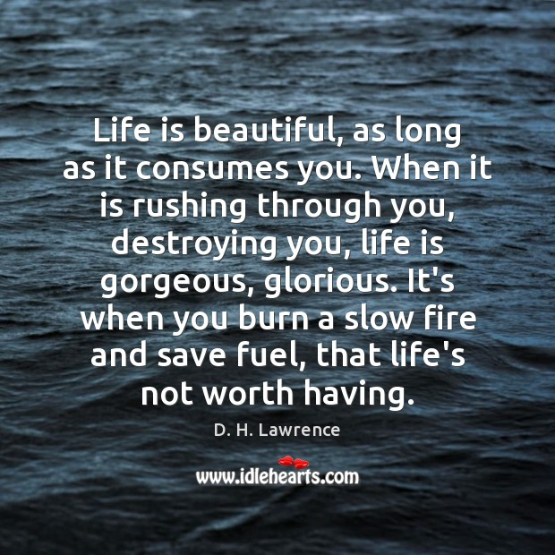Life is beautiful, as long as it consumes you. When it is Image