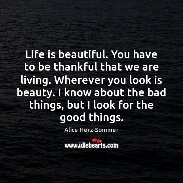 Image, Life is beautiful. You have to be thankful that we are living.