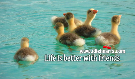 Image, Life is better with friends.