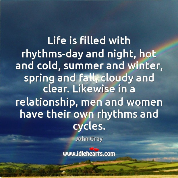 Life is filled with rhythms-day and night, hot and cold, summer and Image