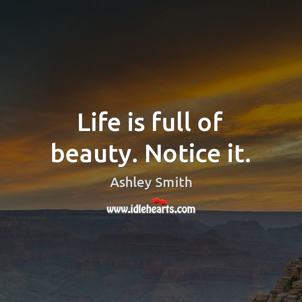 Life is full of beauty. Notice it. Image