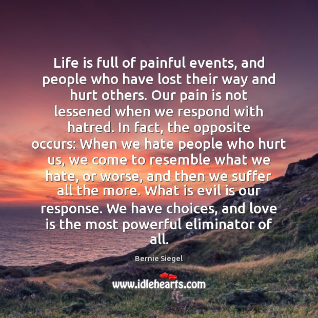 Life is full of painful events, and people who have lost their Image
