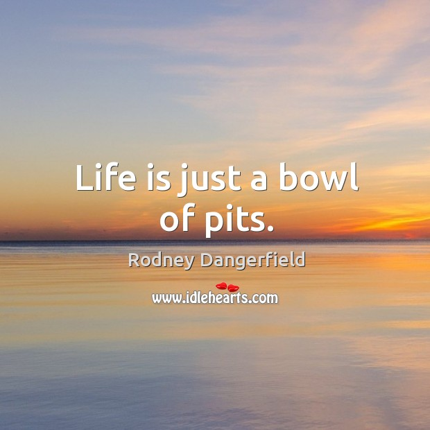 Life is just a bowl of pits. Image