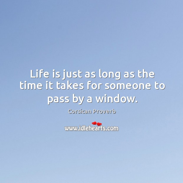 Life is just as long as the time it takes for someone to pass by a window. Image
