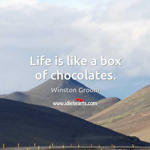 Life is like a box of chocolates. Image