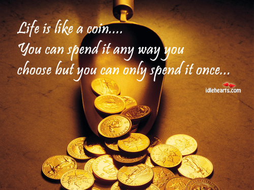 Life is like a coin Image