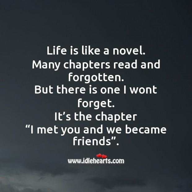Life is like a novel. Image