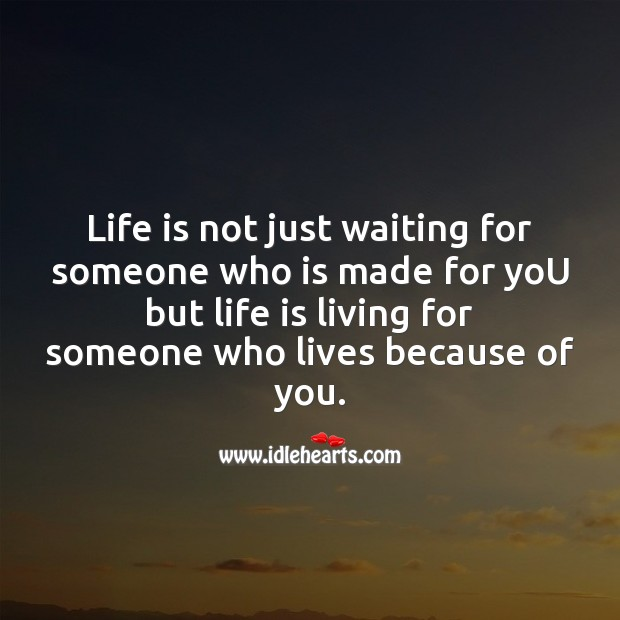 Life is not just waiting for someone Image