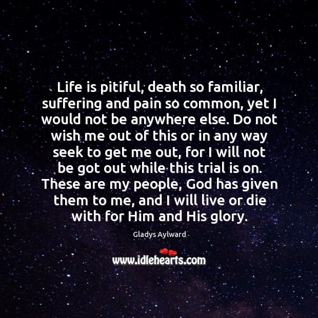 Life is pitiful, death so familiar, suffering and pain so common, yet Image
