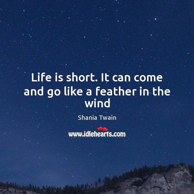 Life is short. It can come and go like a feather in the wind Image