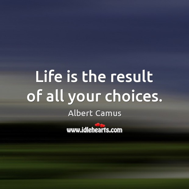 Image, Life is the result of all your choices.
