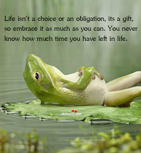 Life Isn't A Choice Or An Obligation, Its A Gift, So…