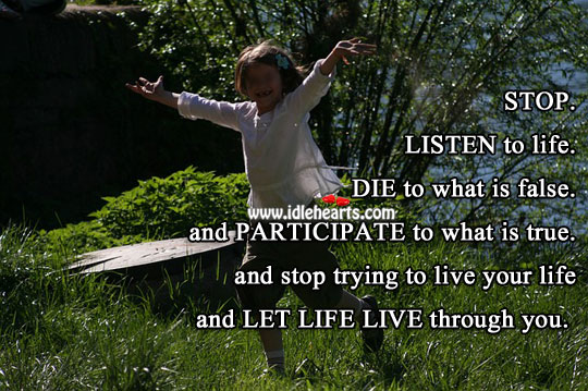 Let life live through you. Wise Quotes Image