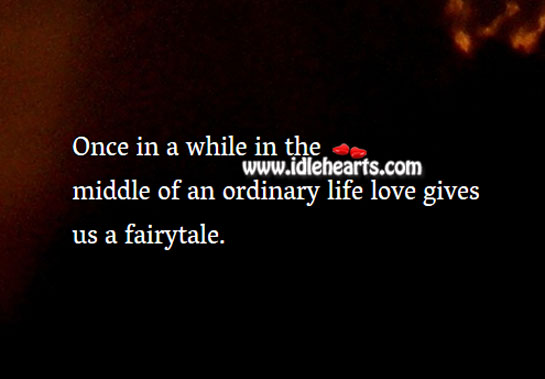 Image, Love gives us a fairytale