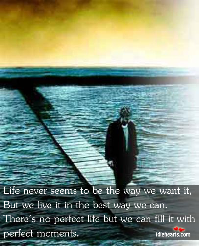 Life Never Seems To Be The Way We Want It, But We Live…