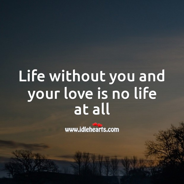 Life without you and your love is no life at all. Life Without You Quotes Image
