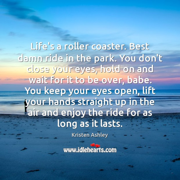 Life's a roller coaster. Best damn ride in the park. You don't Image