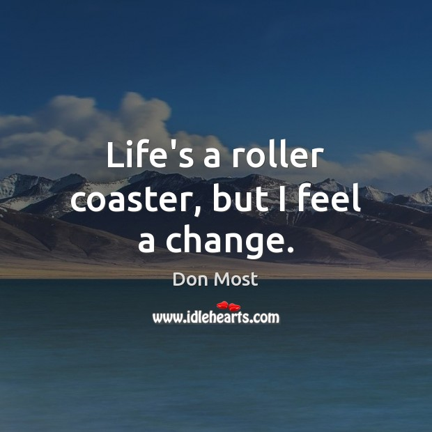 Life's a roller coaster, but I feel a change. Image