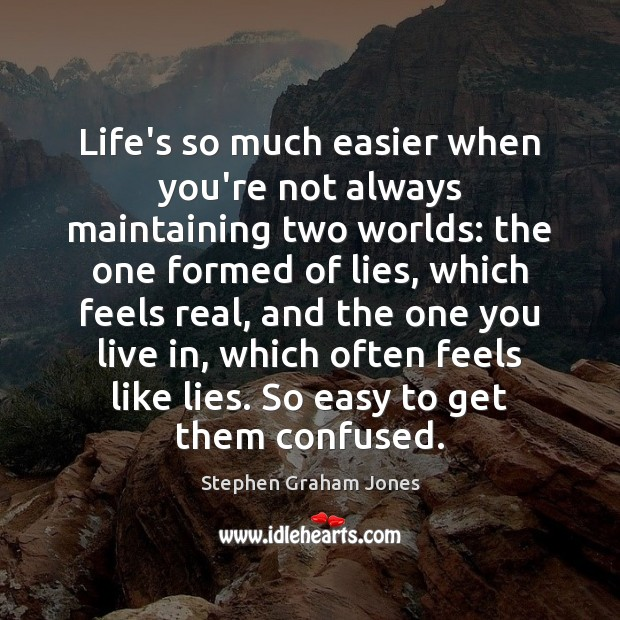 Life's so much easier when you're not always maintaining two worlds: the Image