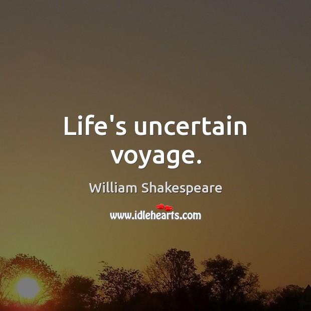 Life's uncertain voyage. Image