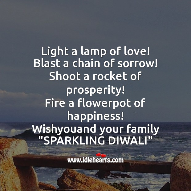 Light a lamp of love! Diwali Messages Image