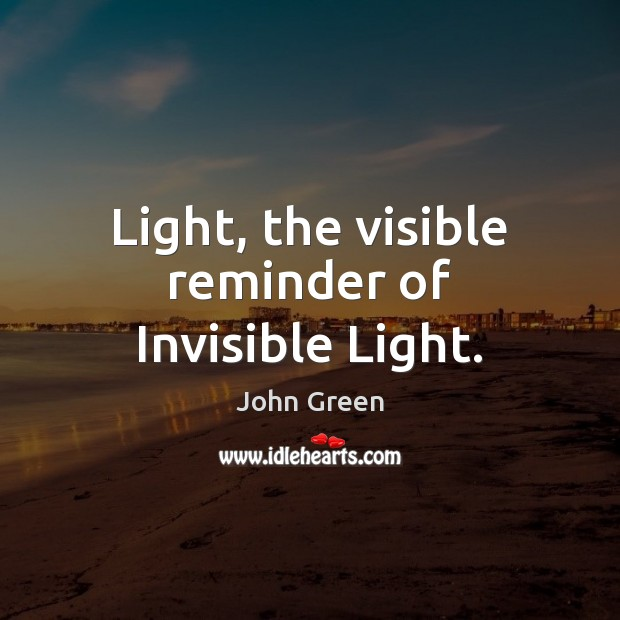 Image, Light, the visible reminder of Invisible Light.