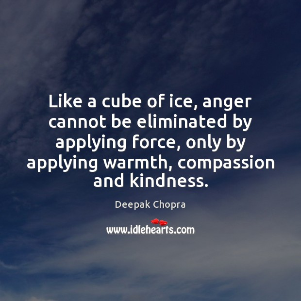 Like a cube of ice, anger cannot be eliminated by applying force, Image