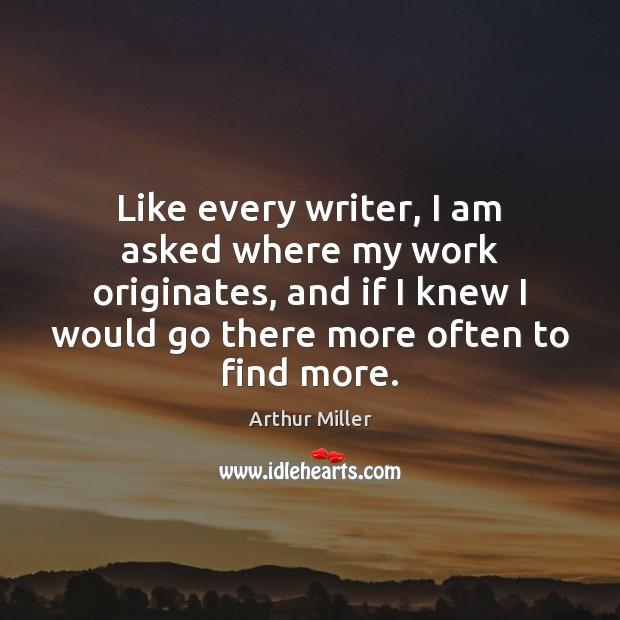 Image, Like every writer, I am asked where my work originates, and if