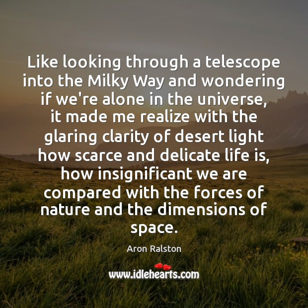 Image, Like looking through a telescope into the Milky Way and wondering if