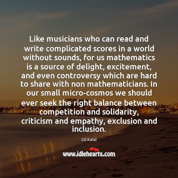 Like musicians who can read and write complicated scores in a world Image
